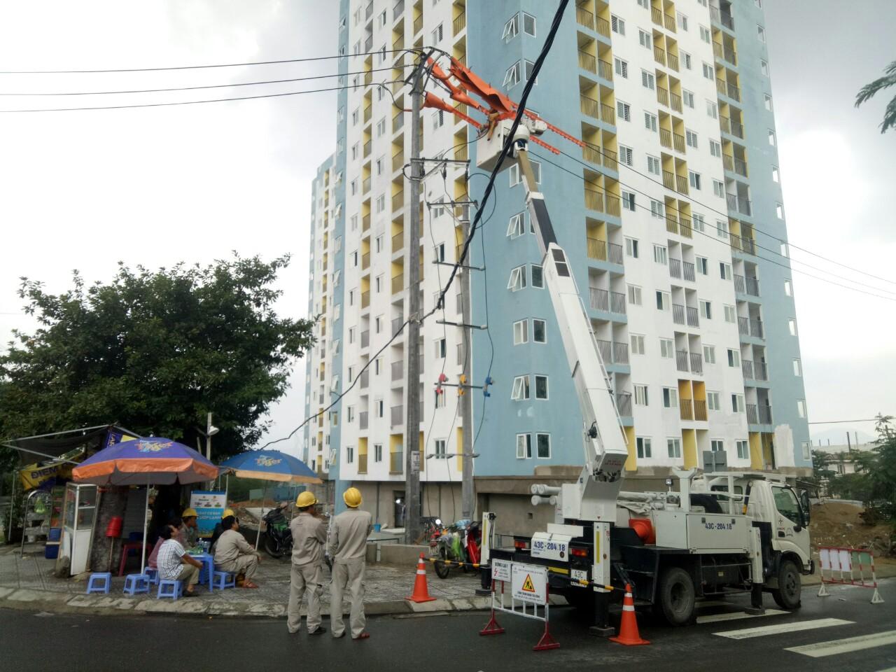 Đấu nối hotline vào lưới điện lưc tại KCN Hòa Khánh